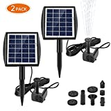 Ankway Solar Water Pump for Fountains with Panel 2.0W Upgrade Solar Pump Kit for Pond Bird Bath Pool Koi Goldfish Patio Garden(2pcs)
