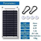 YAMEIJIA 10W 6V 1500mA Monokristalline Solar Power Solar Panel USB-Handy-Photovoltaik Lade Panel-Energien-Bank