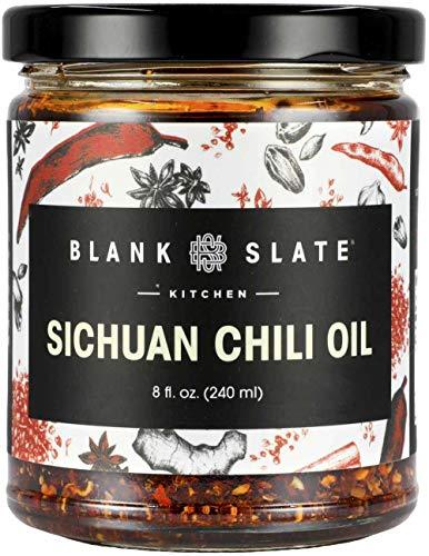 Blank Slate Kitchen Sichuan Chili Oil (8 oz) | Vegan, Gluten-free, Sugar-free | Spicy tingly umami mala hot sauce