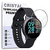 REY Protector de Pantalla para Samsung Galaxy Watch 42mm 2018 - Galaxy Watch Active 2 44mm, Cristal Vidrio Templado Premium