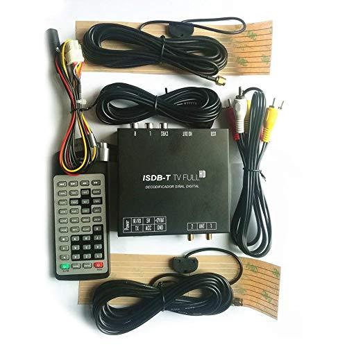 azurely 12-24V Auto TV-Box, Auto ISDB-Digitale TV-Box volledig segment-ISDB-T-ontvanger HD-Combo type volledig module MPEG-2 MP HL MPEG-4 H.264-decoder voor auto's, vrachtwagens, boten