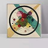 Sin Marco Wassily Kandinsky en el círculo Negro (relación Negra) Cartel clásico del Arte Pintura de la Lona Arte de la Pared Imágenes para la Sala de Estar 23.6x23.6inch