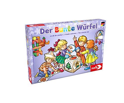 Noris 606011289 Der Bunte Würfel, der fröhliche und kindgerechte Würfelspiel Klassiker für Klein und Groß, ab 4 Jahren