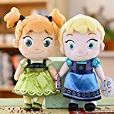 jgzwl Juguete de peluche2pcs / Set 20cm Peluches Frozen Princess Anna Elsa Snow Queen Cute Doll Plush Soft Peluches Brinquedos para Niños Niña Regalos