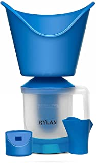 RYLAN Face, Nose, and Cough Steamer 3 in 1 Plastic Steam Vaporizer, Nozzle Inhaler, Facial Sauna, and Facial Steamer Machi...