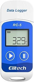 Elitech RC-5 USB温度データーロガー 温度記録計 データレコーダー 32000ポイント 簡単に温度を記録し、解析できるデータロガー ブルー