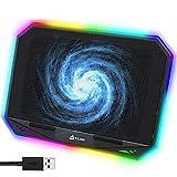 KLIM K21 Base de refrigeración para portátiles RGB - 11' a 17' + Refrigeración para Portátil Gaming + Ventilador USB + Estable y silenciosa + Compatible con Mac y PS4 + New 2021