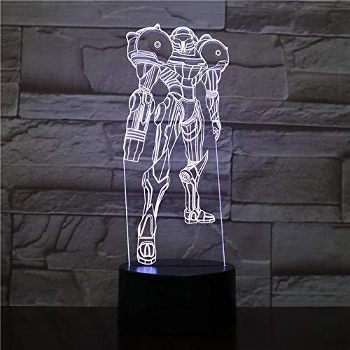 Personaje de película 3D Luz de noche Lámpara de mesa de acrílico multicolor Lámpara de mesa LED Regalo de decoración USB