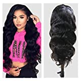 Body Wave Human Hair Wig, VIPbeauty Brazilian Body Wave Remy Human Hair Lace Front Wigs for Black Women 150% Density Glueless Wavy Lace Frontal Wig Pre Plucked with Baby Hair