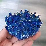 GOSOU Piedra de Tratamiento Chapado Natural Cuarzo Cristal Cluster Energía Libre Forma Reiki Piedra Sala de Estar Inicio Oficina Accesorios Acuario Decorativos Gemas (Size : 300-350g)