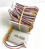 Copia de seguridad de la batería, para DVD GPS Cámara de libros electrónicos grabadora 603450 de alto rendimiento JST PH 2. 0mm 3pin Conector 3.7V 1200mAh Lipo Polímero Litio recargable batería