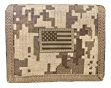 USA US American Flag Tactical Patriotic Military Trifold Wallet Money Holder (Desert Camo)