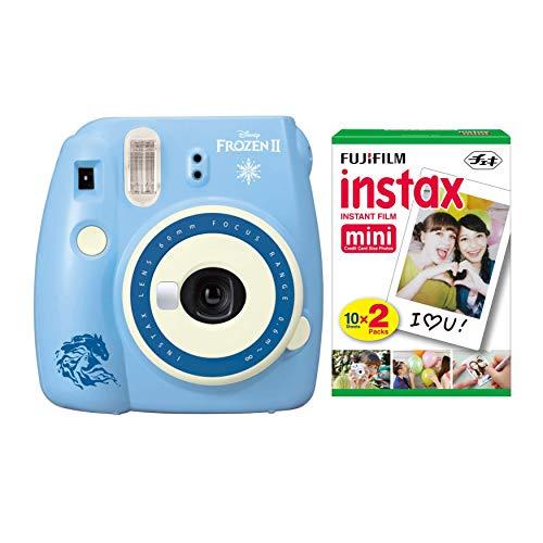 Fujifilm instax Mini 9 Instant Camera (Disney Frozen 2) with Film Pack Bundle (2 items)