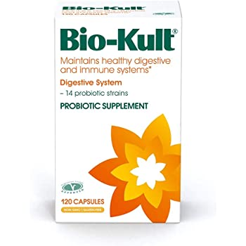 Bio-Kult Advanced Probiotics -14 Strains, Probiotic Supplement, Probiotics for Adults, Lactobacillus Acidophilus, No Need for Refrigeration, Non-GMO, Gluten Free -Capsules,120 Count (Pack of 1)