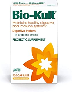 Bio-Kult Advanced Probiotics - 120 Capsules -14 Strains, Probiotic Supplement, Probiotics for Adults, Lactobacillus Acidophilus, No Need for Refrigeration, Non-GMO, Gluten Free –