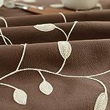 Batterien betrieben knitterfreie Blätter Stickerei Baumwolle und Leinen Tischdecke für Innen- oder Außenbereich 53' X 53' Coffee