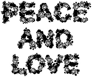 Artemio Stamp Peace and Love, Wood, black, 5.8 x 2.5 x 7 cm