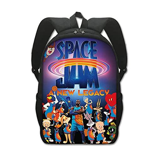 Space Jam Schultasche Rucksack Lola Bunny Kind Anime Grund- und Mittelschüler Basketball-Fan Doppelschicht Rucksack (A10,13 Zoll (Kindergarten))