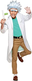 Living Fiction Boy's Rick Sanchez and Morty Outfit Funny Theme Teen Halloween Costume