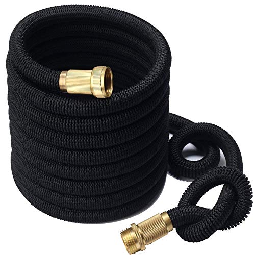 MyM Expandable Garden Water Hose Improved Leak Resistant Heavy Duty Double Latex Core Design Expanding Retractable Flexible and Lightweight for Home Use (25ft)