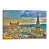 VBRT Toledo Spanien Poster, dekoratives Gemälde, Leinwand,