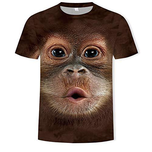Men's Shirt T-Shirt Animal Monkey 3D Monkey face Digital Printing T-Shirt Men's Compassionate Summer