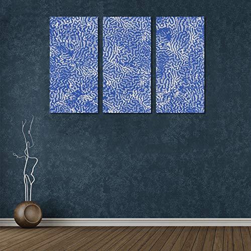3 Panel Gemälde Leinwand Wandkunst Schöne Blaue Koralle im Meer Badezimmer Wandfarbe Küche Leinwand Drucke Malerei Wand für zu Hause Wohnzimmer Schlafzimmer Badezimmer Wanddekor Poster