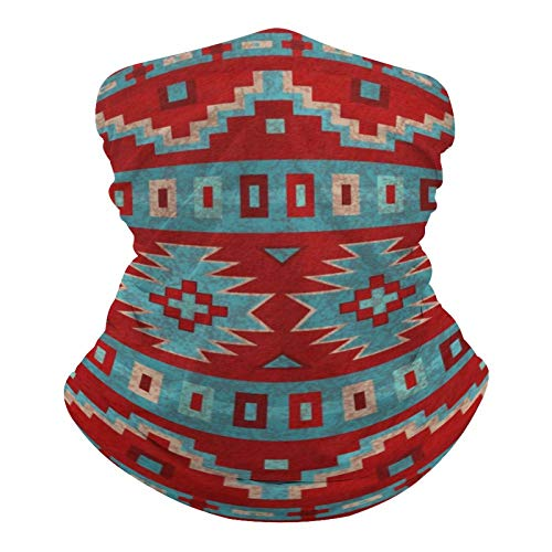 Red Santa Southwest Mesas Western Neck Gaiter Mask Cooling Summer Face Cover Scarf Breathable Bandana Seamless Balaclavas Headband for Men Women