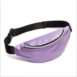 YWSCXMY-AU Sequin Women Waist Bag Fanny Pack Running Zip Belt Money Pouch Holiday Bag (Color : Purple)