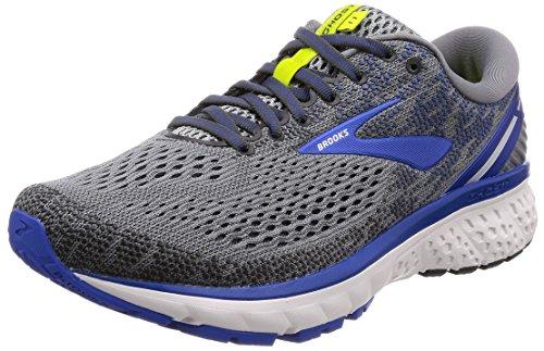 Brooks Mens Ghost 11 Running Shoe - Grey/Blue/Silver - D - 11.0