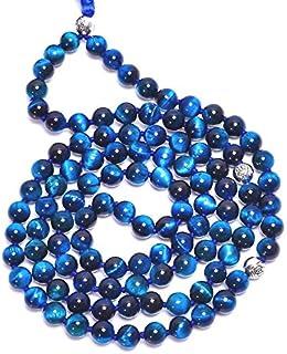 Zoya Gems & Jewellery 108 Mala Bead-6mm TIGEREYE Gemstone Tassel Bead Necklace-Healing Stone Yoga Necklace-Meditation Spir...