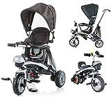 BC Babycoches-Triciclo evolutivo para niños, 3 en 1, multiposicion, con Capota y Manillar.(Azul Oscuro)