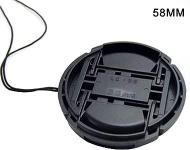 afto mket SLR Camera Lens Cap Snap-On Front Lens Cap Waterproof Dust-p...