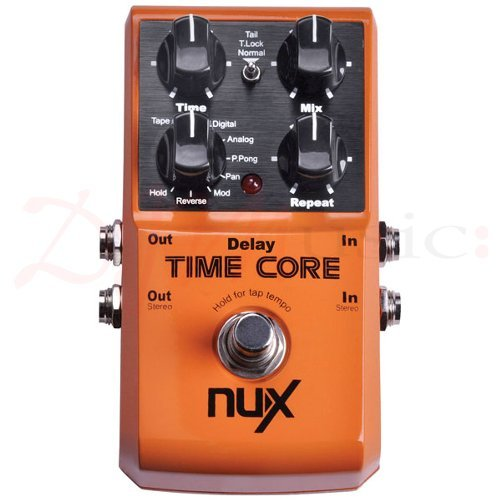 Nux Delay and Stereo Loop Guitar Effects Pedal - Time-Core