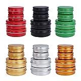 BENECREAT 24 Pack 30ml/60ml Latas de Aluminio con Tapa de Rosca Mixta Tarros Redondas Envases Cosméticos para Almacenar Especias, Caramelos, Bálsamo Labial y Regalos de Fiesta