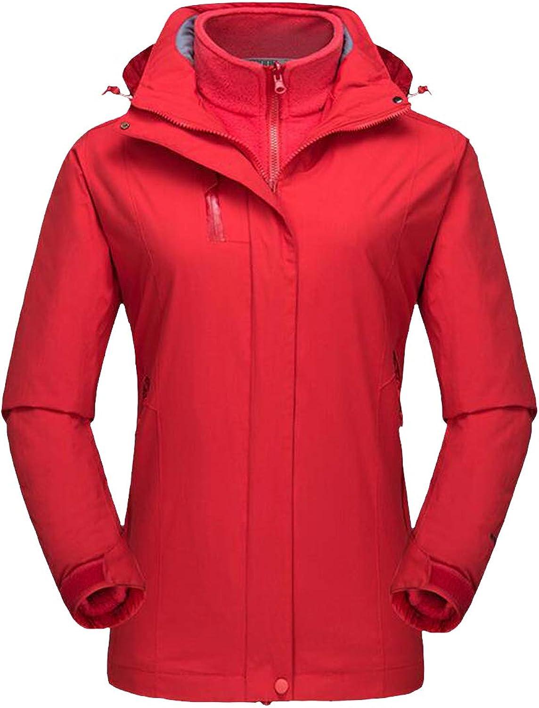 Etecredpow Women Winter 2 Piece Sets Windproof Plus Size 3 in 1 Parkas Jacket