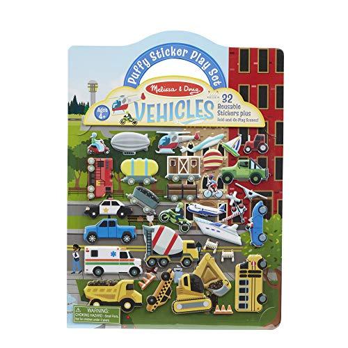 Melissa & Doug Puffy Sticker Play Set – Vehicles