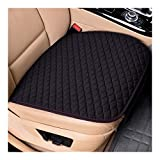 Car Seat Covers Delantero/Trasero/Full Set Elige Coches Cojín Lino de la Tela del Asiento Protector del cojín del Coche Accesorios Antideslizante (Color Name : 1 Black Front)