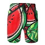 Jiger Men Beach Shorts Summer Watermelons Texture Swim Trunks Male Swimsuit Quick DryL