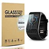 Diruite 4-Pack for Garmin Vivoactive HR Screen Protector Tempered Glass for Vivoactive HR [2.5D 9H hardness] [Anti-Scratch] [Bubble-Free]