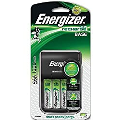 Charges 2 or 4 AA or AAA NiMH rechargeable batteries at once (4 AA batteries included) The most affordable Energizer battery charger available; a smart choice for saving money Delivers a full charge in 8 hours* Green LED indicator lights let you know...