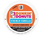Dunkin' French Vanilla Flavored Coffee, 60 K Cups for Keurig Coffee Makers