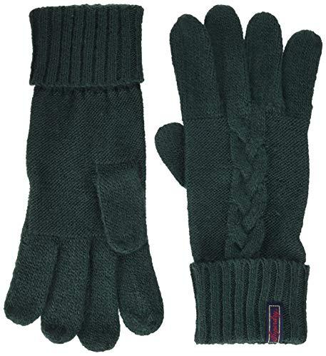 Superdry Damen LANNAH CABLE GLOVES Handschuhe, Grün (Emerald Green Vz7), Einheitsgröße