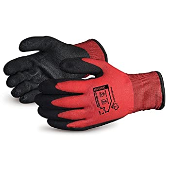 Superior Winter Work Gloves - Fleece-Lined with Black Tight Grip Palms  Cold Temperatures  SNTAPVC – Size Large