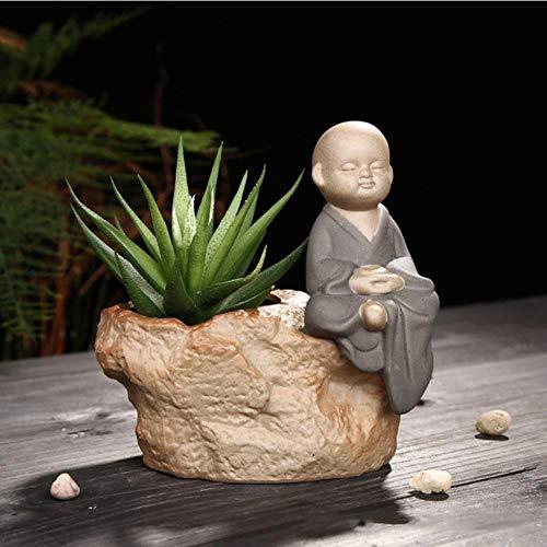 Hot Koop Indoor Bloemen Bonsai Succulente Keramische Pot Terra Cotta Potten Keramiek Bloempotten Decoratieve Ingemaakte Bloem, Donkergrijs, S