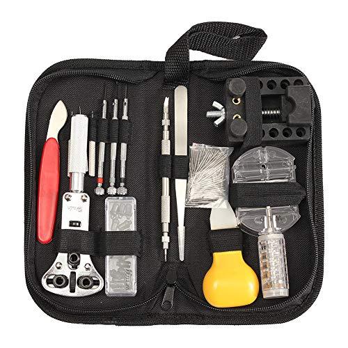 Kit di riparazione di orologi, professionale 144pcs Strumenti Opener Tweezer cacciavite set...