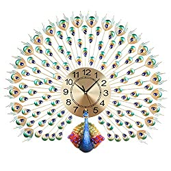 LANGSHI Peacock Wall Clock  decoration for living room