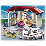 Playmobil 5012 - City Life - Jeu de construction - Centre médical et Ambulance