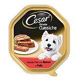 Cesar® - Recetas Clásicos - Recetas clásicas de Comida para Perros con Cortes tiernos en un Delicioso paté con Ternera y Pollo - Peso 150 gr - Cantidad 14 Tarrinas
