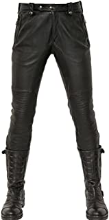 L.Z.L レザーパンツ メンズ 革パンツ 革ズボン ライダーパンツ スキニーパンツ おしゃれスボン バイクパンツ 黒